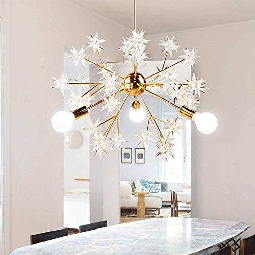 ZHYZN Ursprüngliche Atmosphäre Anhänger Funkelnde Kugel Metall Star Schreibtischlampe Kunst Kunst Lampen Saug