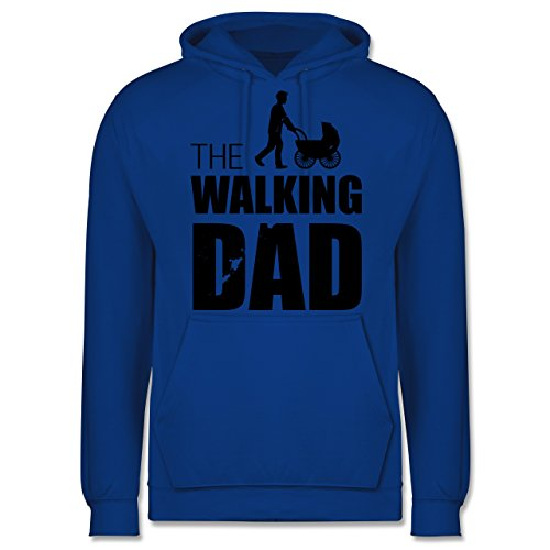 Vatertag - The Walking Dad - Herren Hoodie Royalblau
