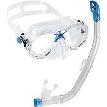 Cressi Marea VIP - Gafas y tubo de buceo para niños azul azul
