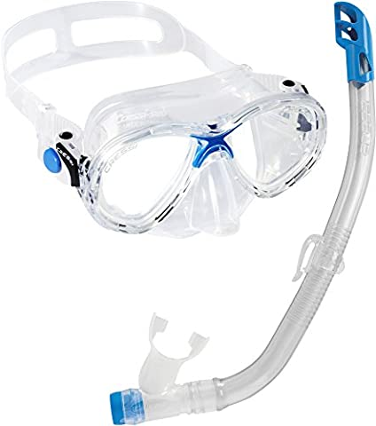 Cressi Marea Jr & Top, Premium Combo Set Pour Enfant 7/13 ans - Junior Snorkel Set
