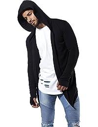 Ritik Creation Men's Cotton Hooded Cardigan Black_Free Size