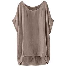 Ropa Mujer☀ EUZeo Camisa de Manga del Murcielagos Camiseta Suelta