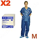 PYJAMA bloc opératoire 2 poches Jetable Taille M Manches courtes Lot 2 pyjamas pantalon haut PDM-PFT04-2 by Pépites du Monde