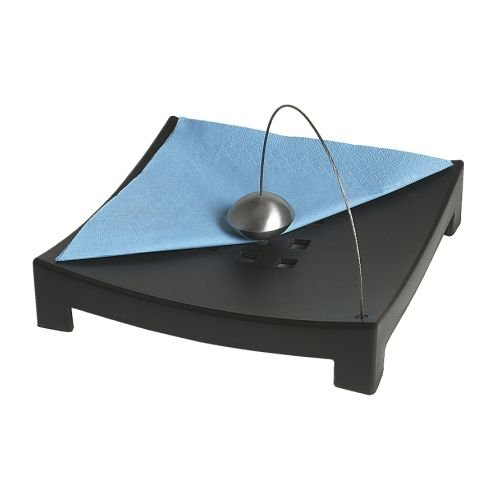 IKEA-NAPKIN-SERVIETTE-HOLDER-BLACK-WITH-METAL-BALL-TO-KEEP-NAPKIN-IN-PLACE-by-Ikea