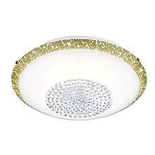 Trio Leuchten Comtess Glass Ceiling Light, Glass, White / Gold, Durchmesser 40cm