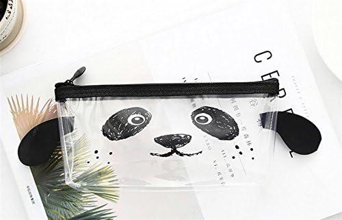 Fournitures de papeterie étudiants Animal Expression Transparent PVC Pencil Case-Black -SUxian | D'adopter La Technologie De Pointe