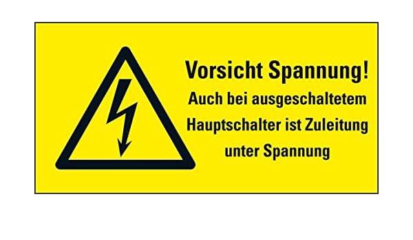 LEMAX® Warn-Kombisch.Vorsicht Spannung! Auch bei ausgesch...,Folie ...