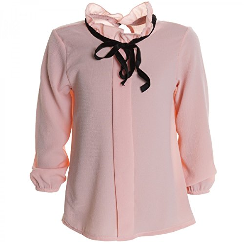 Mädchen Bluse Shirt Pullover Blusen Kleid Longsleeve Sweatshirt T-Shirt 20264 Rosa Größe 164
