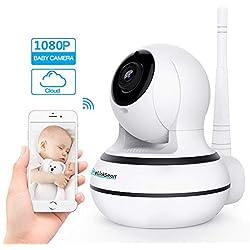 [Oktober Neu]Home Entry Spionage-Kamera 1920*1080p Überwachungskamera Wifi Innen-Kamera,WLAN IP Webcam Home und Baby Monitor mit Bewegungserkennung, Zwei-Wege-Audio, Nachtsicht, unterstützt Fernalarm