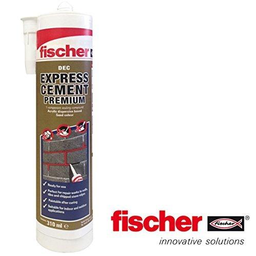 Fischer DEC Express Premium Zement-Fertigmischung für Reparaturen, 310ml Tube, sandfarben