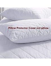 "coca industries Satin 250 TC Pillow Cover (White_18""x28"")"