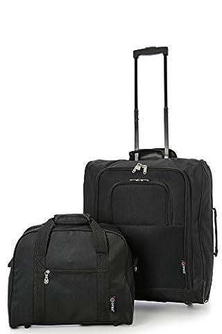 British Airways Maximales 56x45x25cm Trolley & 40x30x15cm Deuxième Sac de Transport - Emmenez les deux ! (Noir /