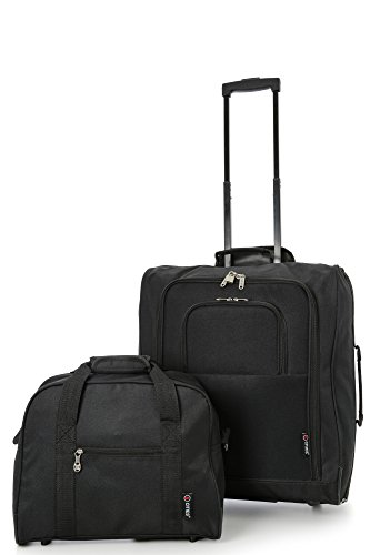 British Airways Maximum 56x45x25cm & 40x30x15cm Main & Additonal Second Hand Luggage Cabin Bags – Pack the Max & Carry Both on Free with BA! (4 x BLACK)