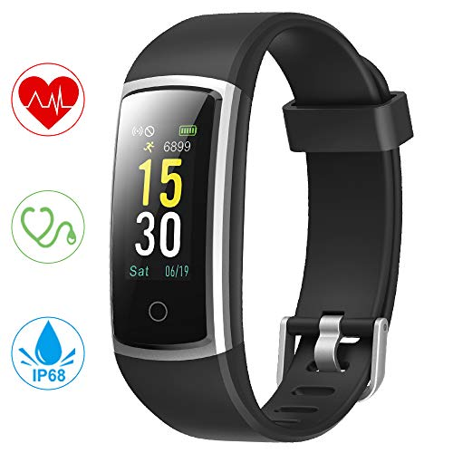 YONMIG Orologio Fitness Tracker, Smartwatch Pressione Sanguigna Cardiofrequenzimetro Bluetooth Smart Watch IP68 Impermeabile Contapassi Ativity Tracker per Uomo Donna iOS Android