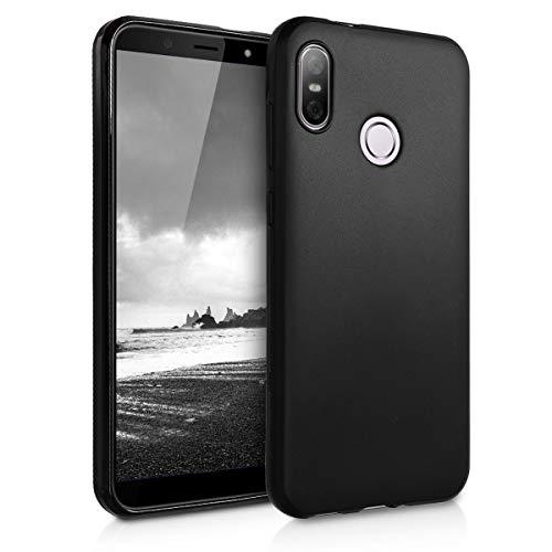 kwmobile HTC U12 Life Hülle - Handyhülle für HTC U12 Life - Handy Case in Schwarz matt
