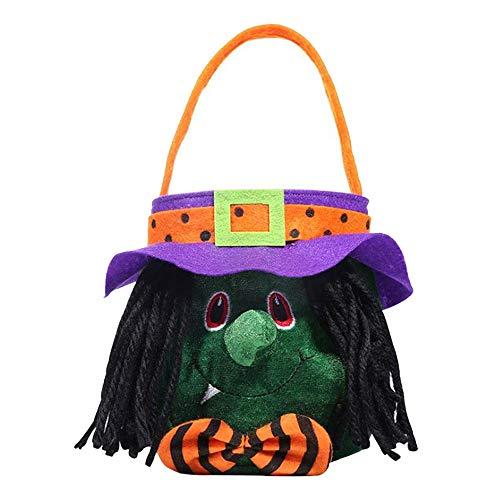 Mangotree Halloween Kürbis Tasche Kinder Süßigkeitstasche für Süßes oder Saures Taschen, Halloween Party Gefälligkeiten, Halloween Kostüme, Halloween Goodie Bags (17cmx27cm, ()