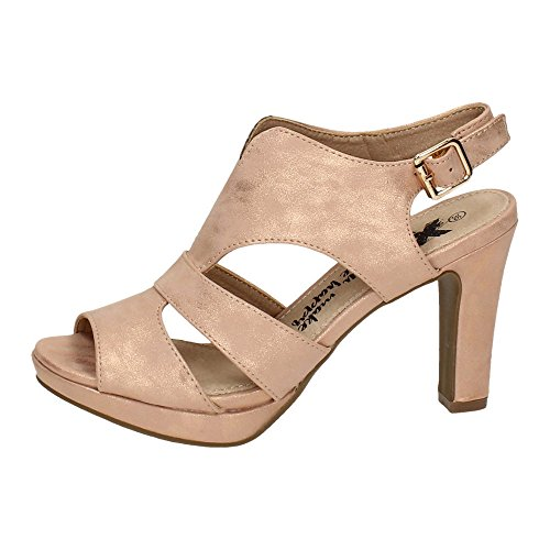 XTI 46593 Zapatos DE Tacón Mujer Sandalias Tacón Nude 41