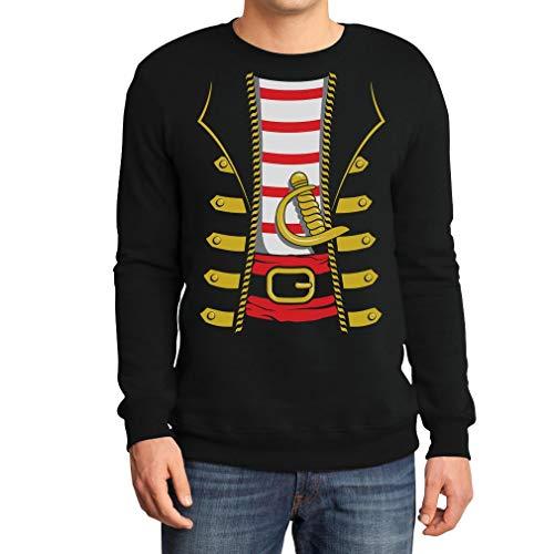Costume uomo per halloween da pirata felpa/maglione da uomo small nero