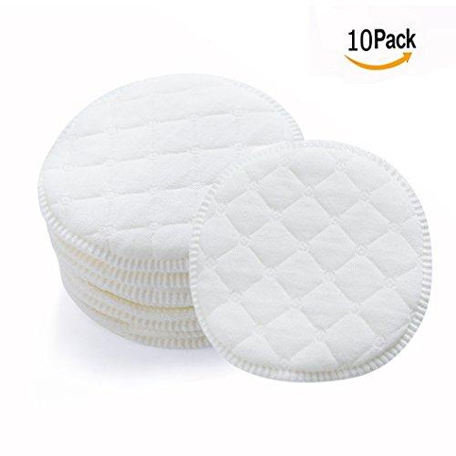 Almohadilla Lactancia, Almohadillas de Lactancia, 10 PC Almohadillas de Lactancia lavables, Almohadillas de Lactancia Desechables, Almohadillas de lactancia ultra suaves, Ultra Absorbente (Blanco)