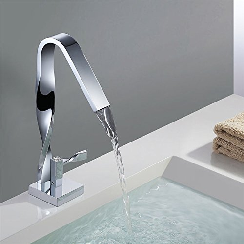 XIAOQI Basin Mixer Chrome Seated Single Handle Hot And Cold Faucet