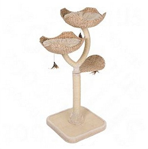 Chic Flower-Shaped Cat Tree With Thick Sisal-Wrapped Metal Pillars And Woven Platforms- Sturdy Scratching Posts… 2