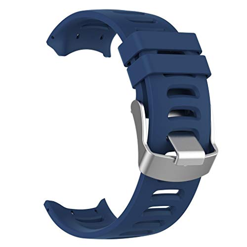 Vamoro Armbanduhr Armband Armband Ersatz Uhren-Armband für Garmin Forerunner 610 bedienwerkzeug(Blau)