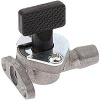Sharplace Interruptor de Carburador De 49cc 47cc Mini Bici Grifo de Gasolina Accesorio de Moto de Metal Color Plata