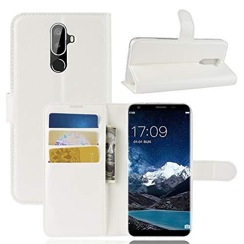 SHIEID Oukitel K5 Hülle Brieftasche Hülle Kunstleder Handyfall Handyfall Für Oukitel K5(Weiß)