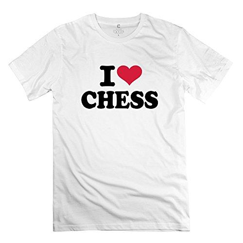 Hombre I Love ajedrez manga corta DeepHeather camiseta Humor por rahk