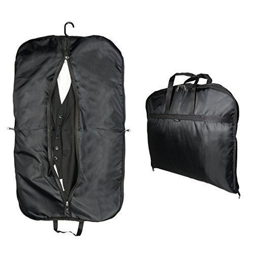 PERFORMpluss Anzugtasche Kleidersack für BUSINESS Anzug Herren   KNITTERFREI reisen mit Auto und Flugzeug als Handgepäck   Kleidertasche faltbar und kompakt   Reisekleidersack lang Kleiderbügel
