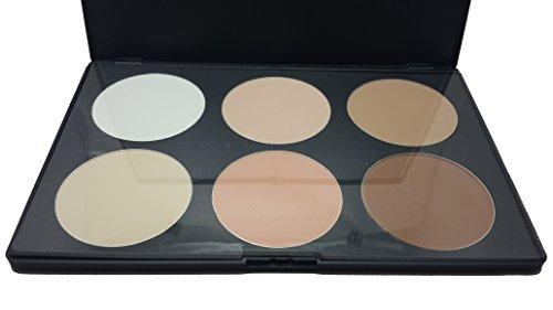 Kompaktpuder Gesichtspuder Erde Palatte Gepresst Puder 6 Farbe Kosmetik-Set Mode