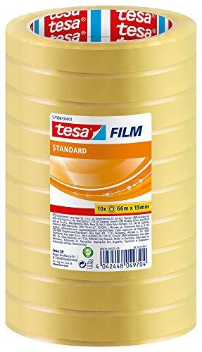 Tesa 57388-00001-00 Tesafilm 10 Rotoli di Nastro Adesivo da 66 m