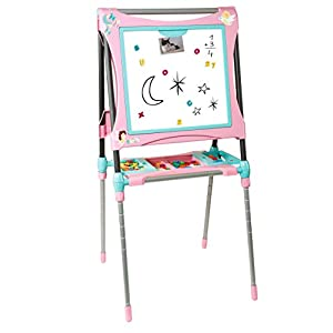 Smoby 410203 Height Adjustable Metal Easel EVOLUTIV Pink
