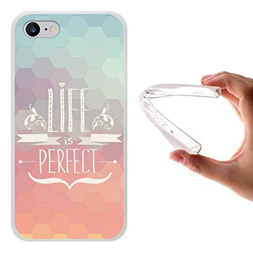 WoowCase Hülle Case für [ iPhone 7 ] Handy Cover Schutzhülle Schuhe Kamera Brille Stern Housse Gel iPhone 7 Transparent D0082