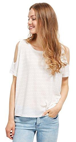 Tom Tailor Denim für Frauen T-Shirt Cold-Shoulder T-Shirt soft light beige