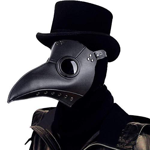 Kostüm Pet Arzt - Welltop Schnabelmaske, Mittelalter Pest Maske Doktor Arzt Kopfmaske Steampunk Kostüm Zubehör für Erwachsene Halloween Party Fasching Karneval