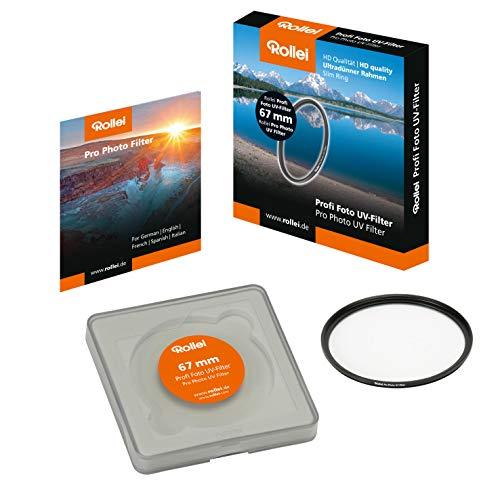 Rollei Profi Foto UV-Filter 67 mm - UV Filter und Schutzfilter mit ultradünnen Aluminium-Ring, 16 fach beschichtet - Größe: 67 mm