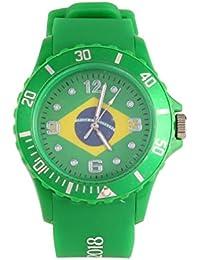 Rocita Reloj Los Deportes Ocasionales Tema del fútbol Reloj del Cuarzo del pabellón con Dibujos Reloj