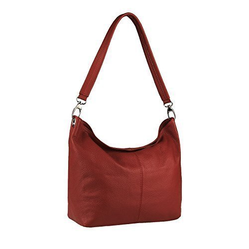 OBC Only-Beautiful-Couture, Borsa a spalla donna Turchese turchese 36x24x14 cm (BxHxT) ROSSO SCURO V1