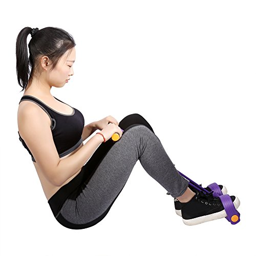 Elastic Stretch Widerstand Band Pull Seil Expander Fuß Pedal-Schaumstoff Body Trimmer Training Equipment Training Dehnen Slimming Werkzeug Fitness Tube, violett