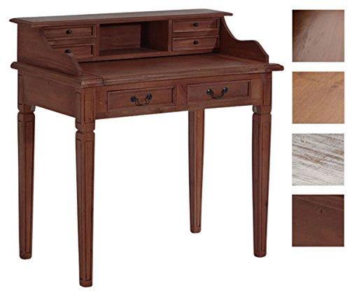Braun Sekretär Schreibtisch (CLP Sekretär ALDEN aus Mahagoniholz, handgefertigt, Schreibpult im Landhausstil, 99 x 57 x 102 cm, Braun)