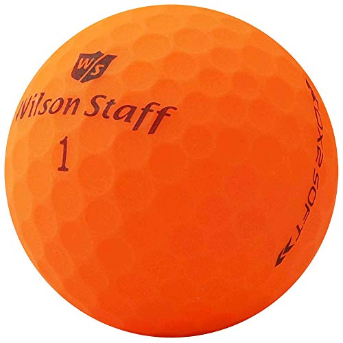 lbc-sports 24 Wilson Staff Dx2 / Duo Soft Optix Golfbälle - AAAAA - PremiumSelection - Orange - Mattes Finish - Lakeballs - gebrauchte Golfbälle - im Netzbeutel