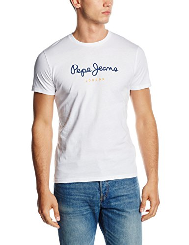 pepe-jeans-eggo-t-shirt-uni-manches-courtes-homme-blanc-white-large-taille-fabricant-l