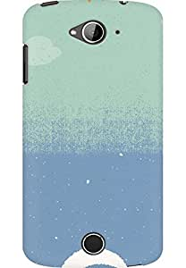 AMEZ designer printed 3d premium high quality back case cover for Acer Liquid Z530 (day night abstract)