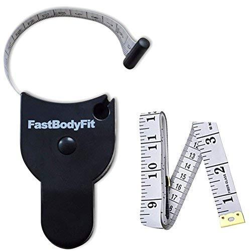 FastBodyFit Körpermassband zum messen vom Körperumfang OPTIMIERTE Version. Ergonomisch, Handlich und einfach in der Anwendung (Maßband Ende)