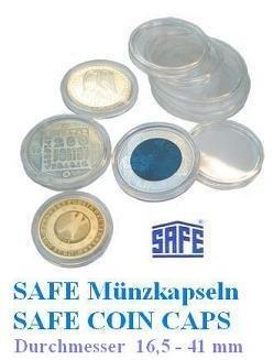 5 Safe Münzkapseln CAPS 235 - Ideal für 1 EURO Münzen - Coincaps - Münzenkapseln -