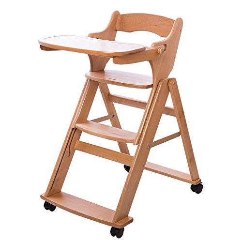 Anna Hochstühle Baby-Esszimmer-Stuhl Massivholz Multifunktions-Baby-Essensitz Faltbare tragbare Kind-Essecke