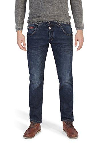 Timezone Herren Regular Harold Rough Straight Jeans, Blau (Fresh Mid Blue Wash 3076), W38/L32 - Bootcut-jeans Bestickt