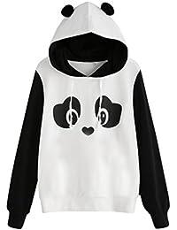 Lenfesh Animal Impresión Animal Sweatshirts Camiseta Suéter Mangas largas  Mujer fffae2186671