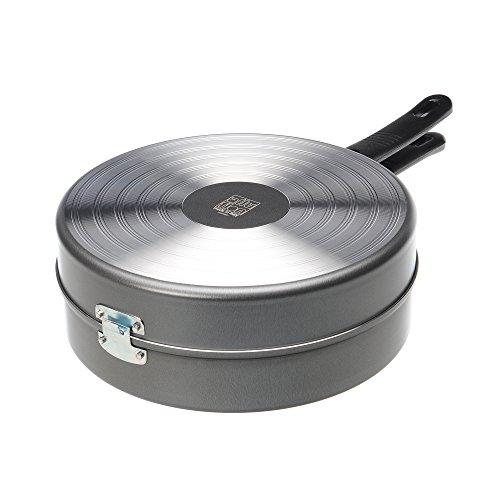 Alluflon Tradizione Italia Sartén dupla para tortillas, aluminio, Negro, 28cm